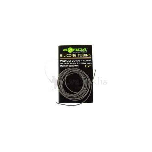 Korda Silicone Tubing Medium 0.7mm x 0.3mm weedy green 1.5m